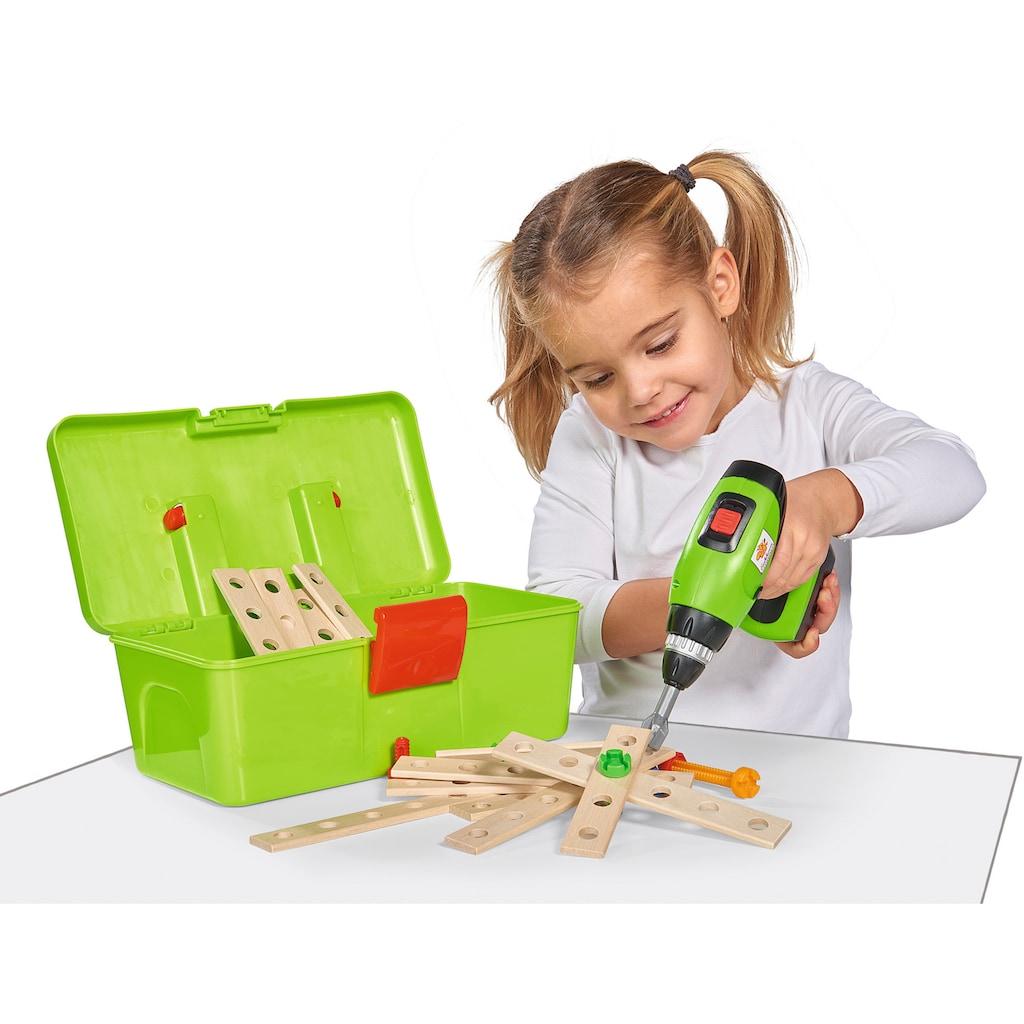 Eichhorn Konstruktionsspielsteine »Constructor Werkzeugbox«, (70 St.), Made in Germany, FSC®-Holz aus gewissenhaft bewirtschafteten Wäldern