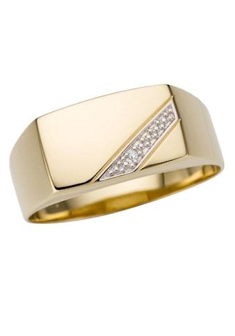 Firetti Goldring »Glanz, rhodiniert, massiv«, mit Brillant kaufen