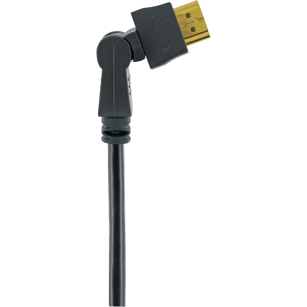 Schwaiger High Speed HDMI Kabel mit Ethernet, 4K, Full HD, 3D Ultra HD »mit 360° Winkelstecker«