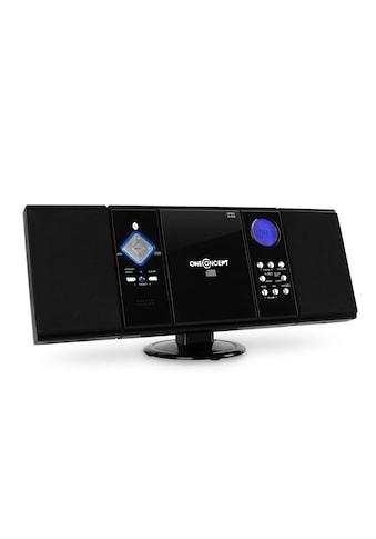 ONECONCEPT Bluetooth Stereoanlage USB SD CD MP3 AUX UKW/MW Uhr mit Wecker kaufen