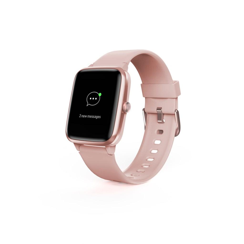 Hama Fitness-Tracker »Smartwatch 5910, Kalorien«, wasserdicht, integriertes GPS, Herzfrequenz