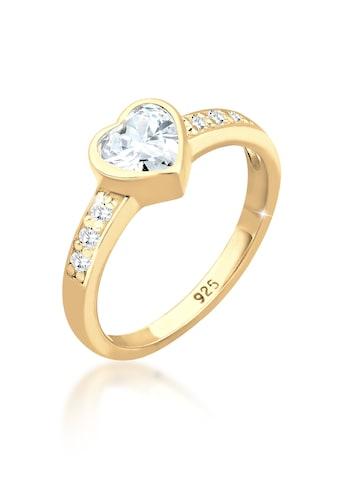 Elli Fingerring »Herz Zirkonia Symbol Verlobung 925 Silber« kaufen