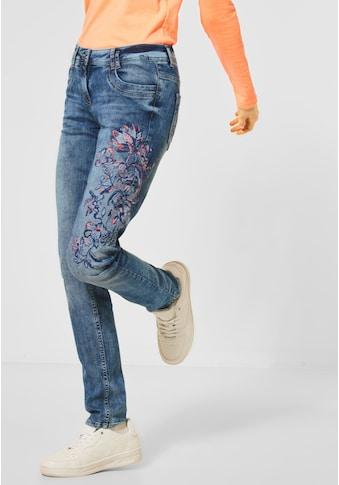 Cecil Loose-fit-Jeans, mit Blumen-Stickerei kaufen