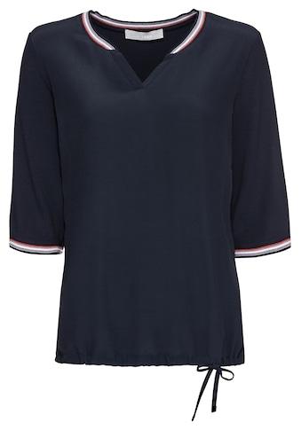 bianca Blusenshirt »CHRISTIANA«, mit Schleifendetail und Strickbündchen kaufen