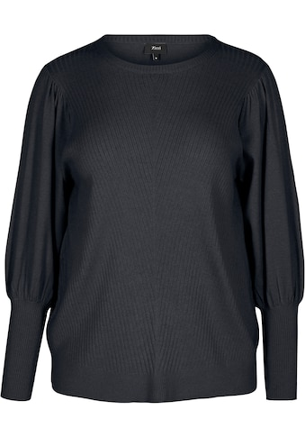 Zizzi Strickpullover, mit Struktur-Muster auf der Vorderseite kaufen