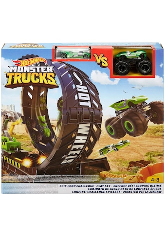 Hot Wheels Autorennbahn »Monster Trucks Looping-Challenge«, inkl. 2 Spielzeugautos kaufen