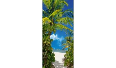 PAPERMOON Fototapete »Tahiti  -  Türtapete«, BlueBack, 2 Bahnen, 90 x 200 cm kaufen