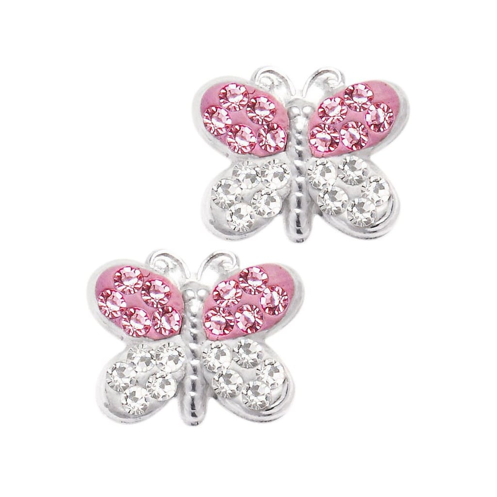 Firetti Paar Ohrstecker »Schmetterling«, mit Kristallen