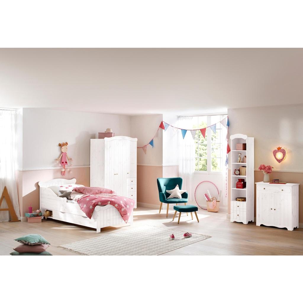 Home affaire Massivholzbett »Ieva«, im Landhaus-Design