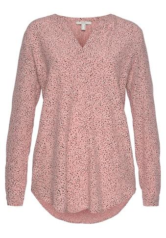 Esprit Druckbluse, im Tunika-Look und in unterschiedlichen Millefleur Alloverprints kaufen