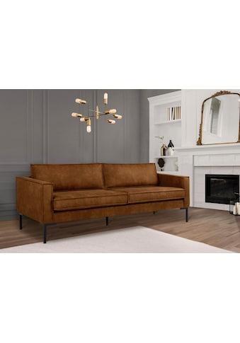 Leonique 2,5-Sitzer »Drace«, in Lederoptik, in geradlinigem Design kaufen