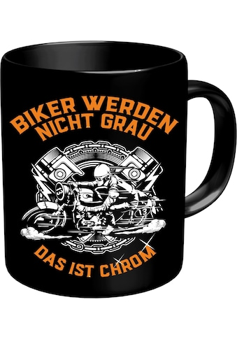 Rahmenlos Kaffeebecher für ältere Motorradfahrer »Chrome« kaufen
