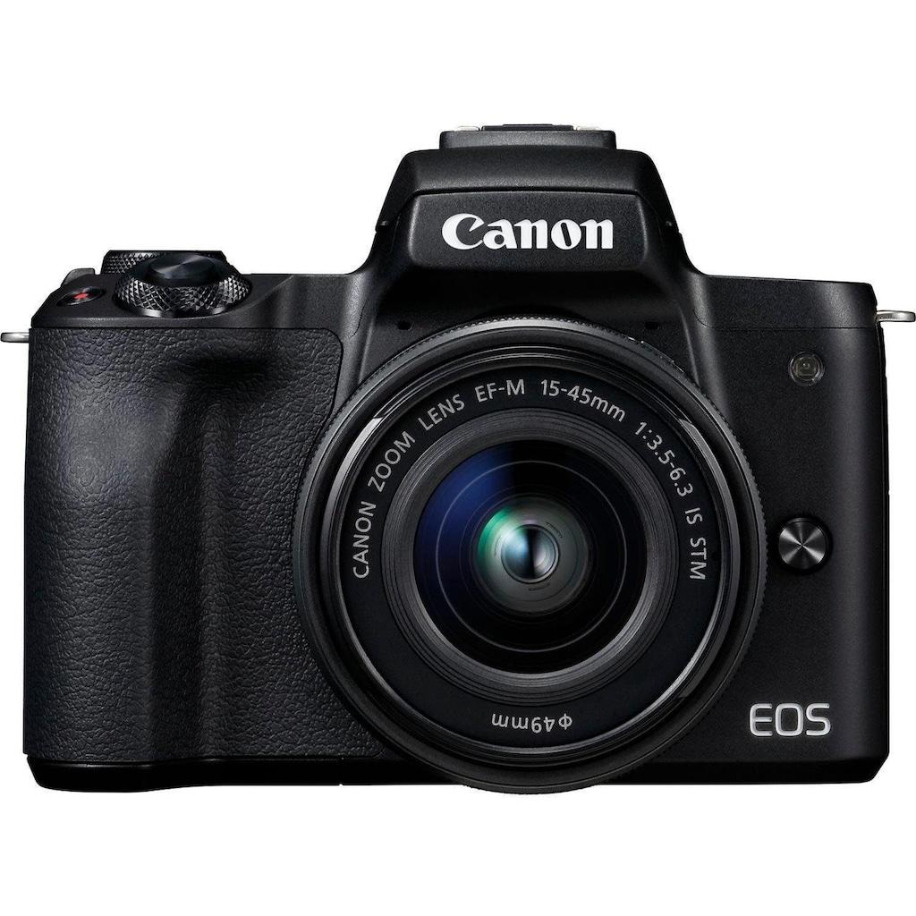 Canon Systemkamera »EOS-M50 EF-M15-45 Kit«, EF-M 15-45, 24,1 MP, NFC-WLAN (Wi-Fi)-Bluetooth, + Rucksack CB-BP100 + 32GB SD Class 10 + 10 € FGS