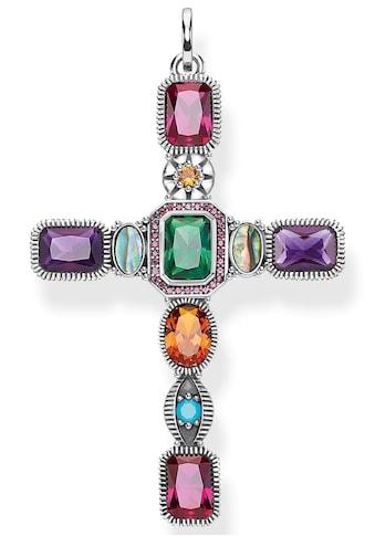 THOMAS SABO Kettenanhänger »Kreuz farbige Steine, PE859 - 294 - 7« kaufen