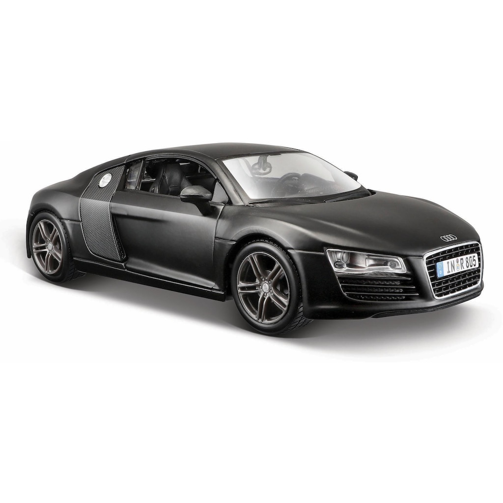 Maisto® Sammlerauto »Dull Black Collection, Audi R8, 1:24, schwarz«, 1:24, aus Metallspritzguss