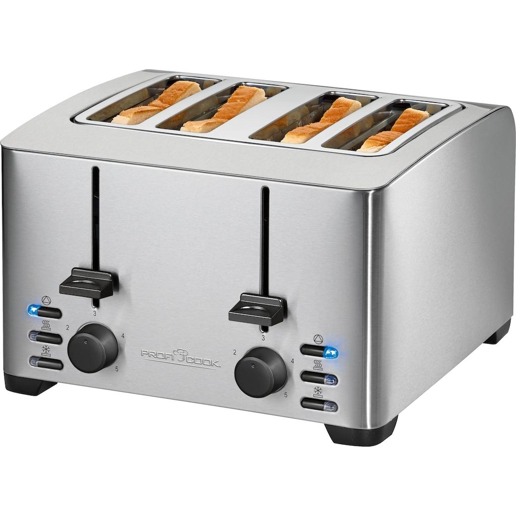 ProfiCook Toaster »PC-TA 1073«, 4 kurze Schlitze, für 4 Scheiben, 1500 W