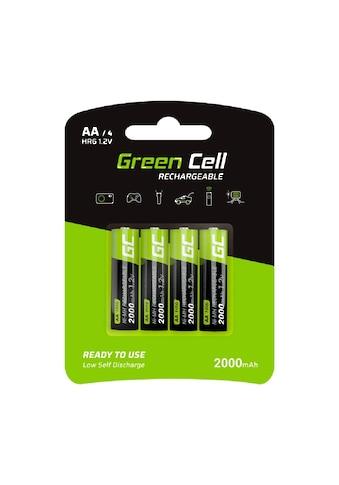 Green Cell Batterie »4x Akkumulator AA HR6 2000mAh«, Akkus Batterien,... kaufen