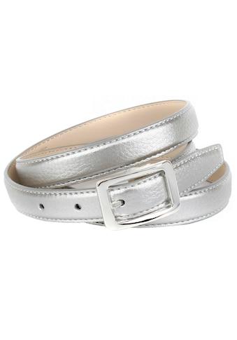 Anthoni Crown Ledergürtel, in Hirschprägung, schmale Form, kleine Schließe kaufen