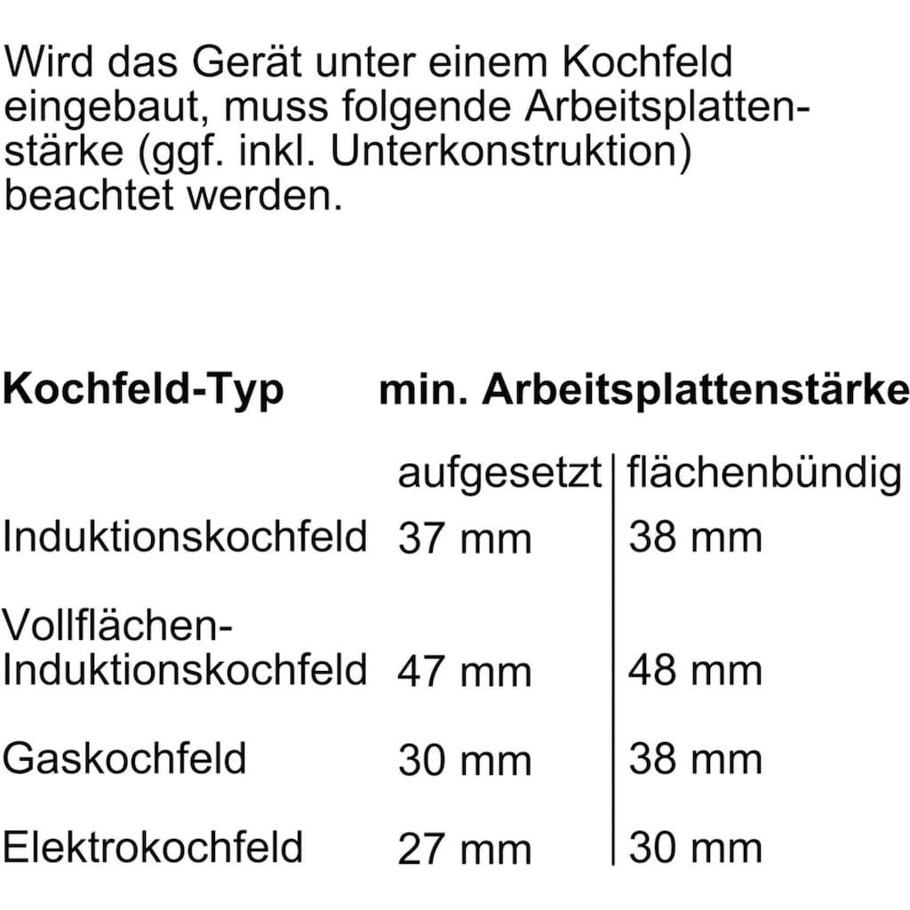 BOSCH Einbaubackofen »HBG632TS1«, 8, HBG632TS1, mit 3-fach-Teleskopauszug