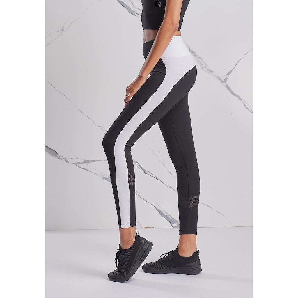 LASCANA ACTIVE Leggings, mit Mesheinsatz