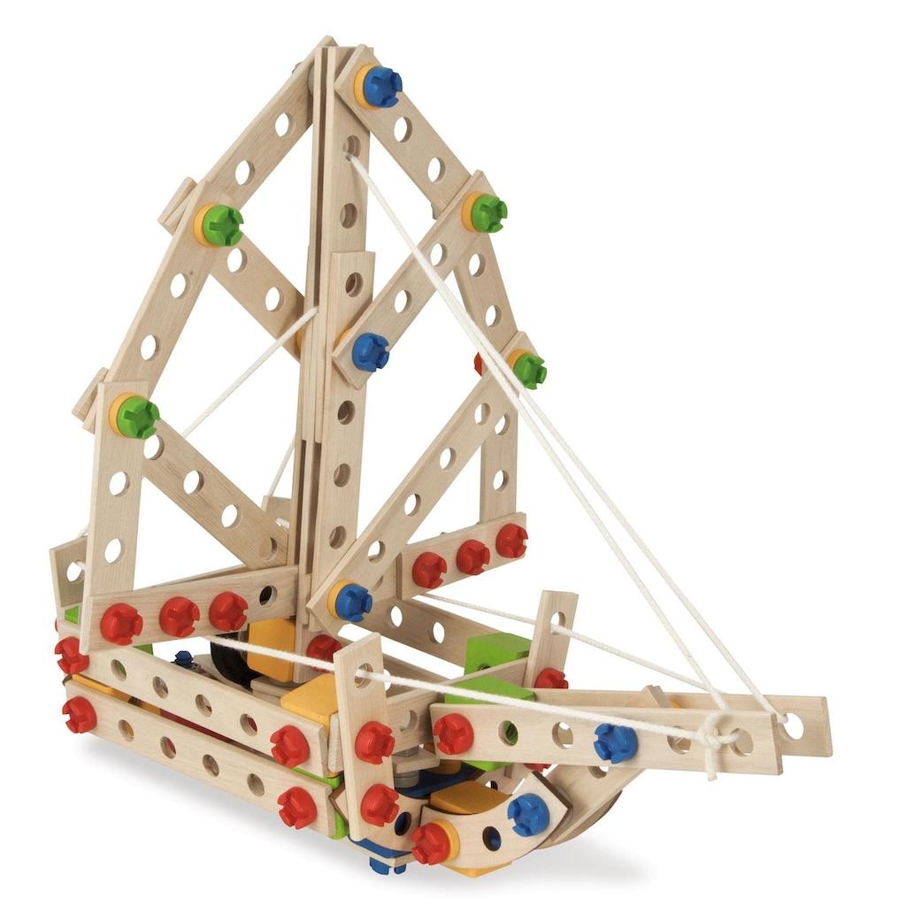 Eichhorn Konstruktionsspielsteine »Constructor, Hubschrauber«, (225 St.), Made in Germany, FSC®-Holz aus gewissenhaft bewirtschafteten Wäldern