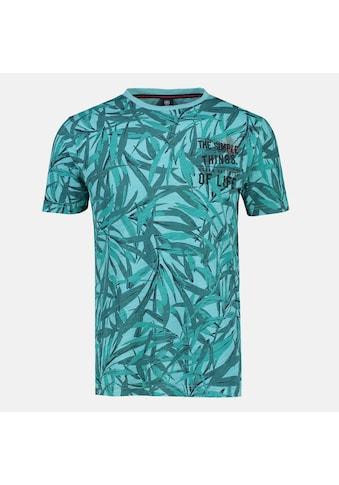 LERROS T-Shirt »Leafs«, mit Blattwerkprint kaufen