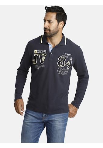 Jan Vanderstorm Langarm-Poloshirt »RADOMIR«, Seitenschlitze, Comfort Fit kaufen