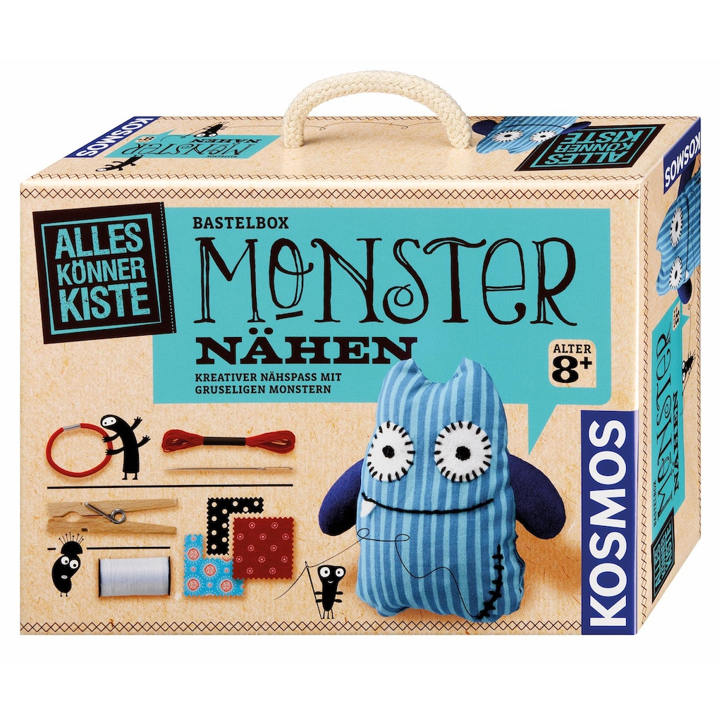 Kosmos Kreativset »AllesKönnerKiste Monster nähen«, (Set), Made in Germany