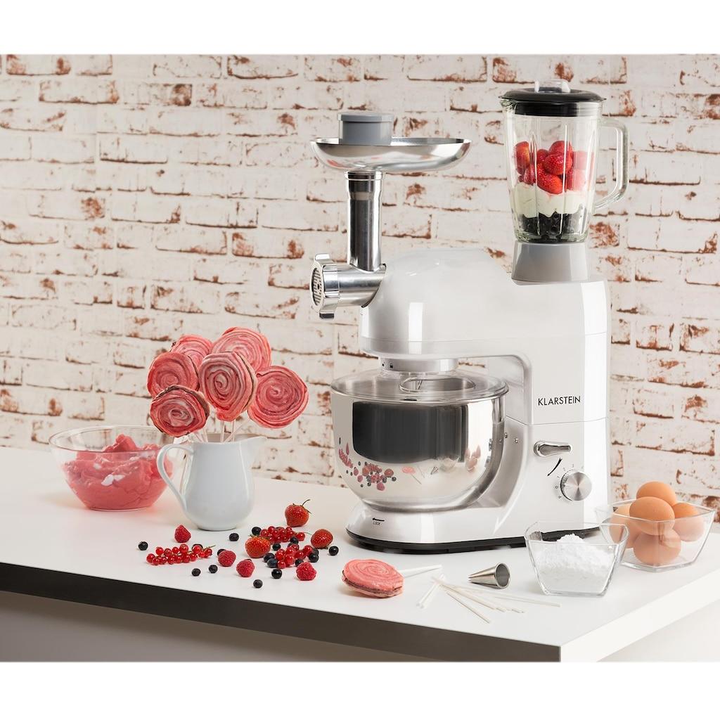 Klarstein Küchenmaschine Rührmaschine Fleischwolf Mixer 1200W 1,6 PS 5L