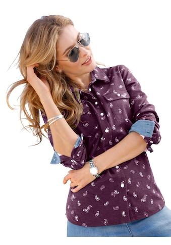 Classic Basics Bluse mit dezentem Muster kaufen