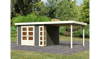KONIFERA Gartenhaus »Nordsee 6«, mit Anbaudach kaufen