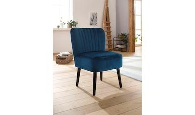 Home affaire Sessel »Antonio«, mit Ziernähten und Holzbeinen kaufen