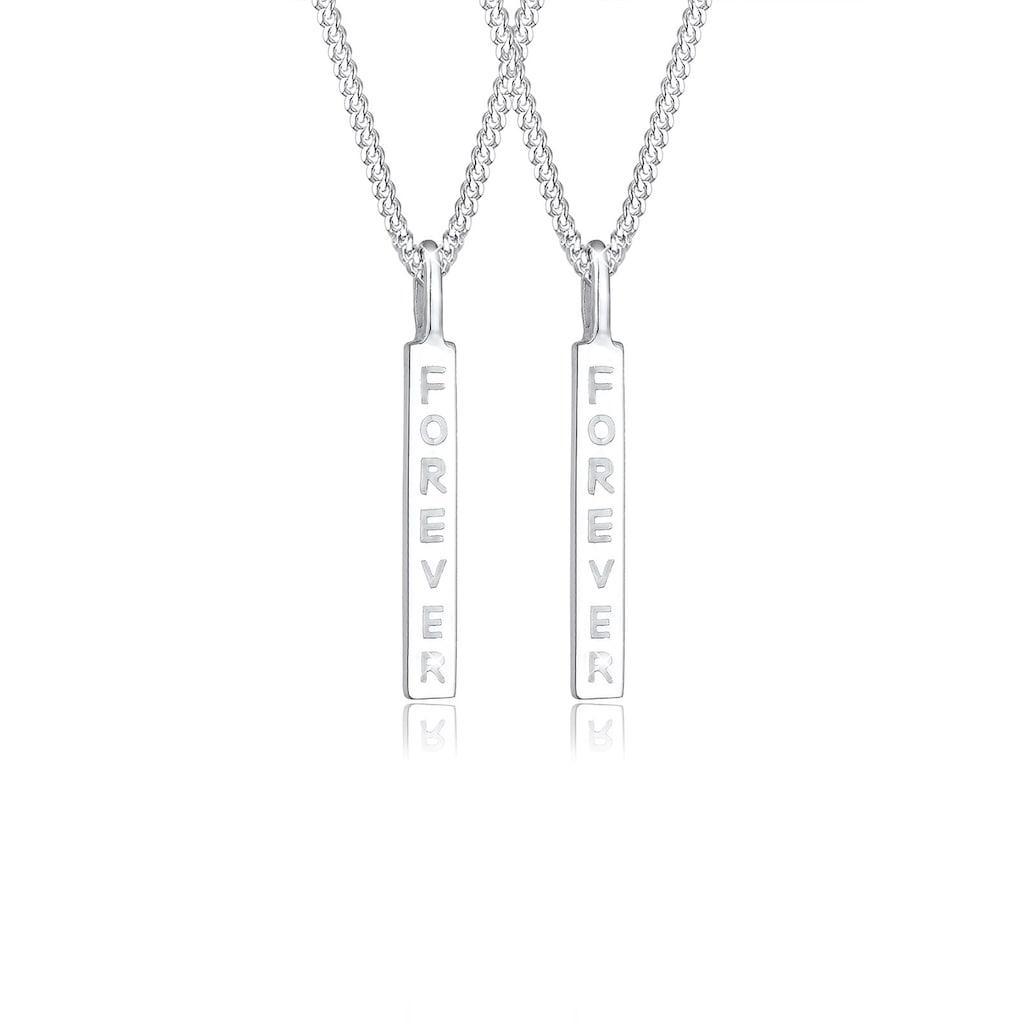 Elli Ketten-Set »Freunde Partner Schriftzug Wording 925 Silber«