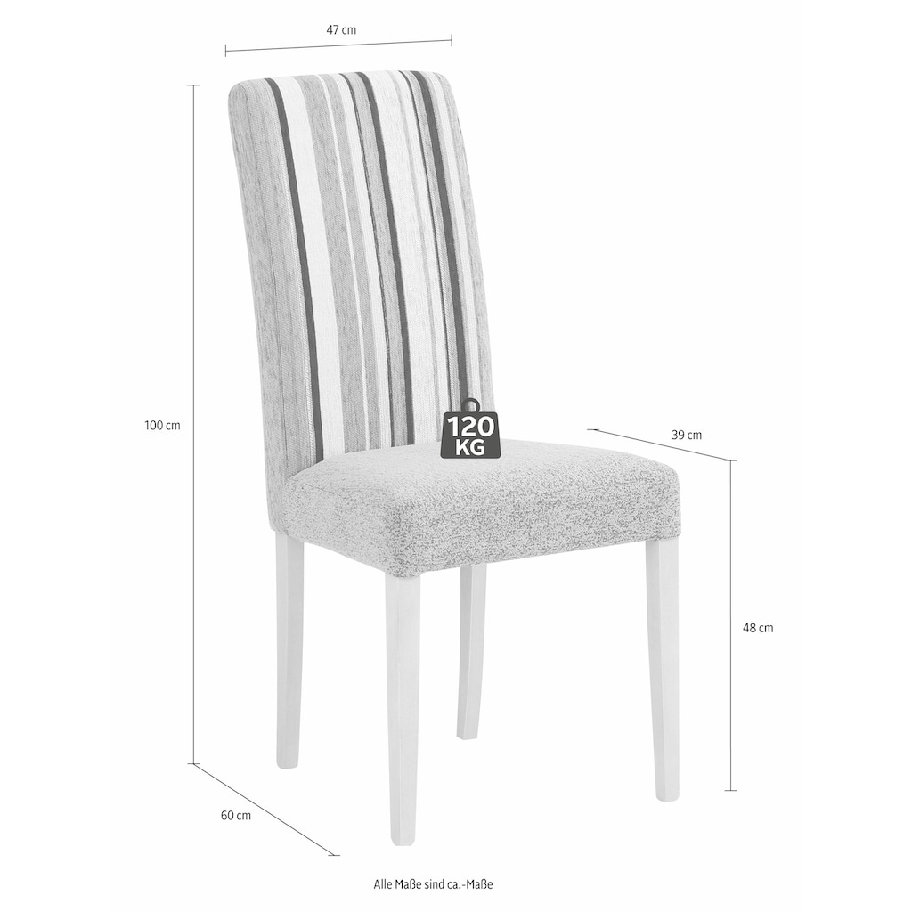 Home affaire Essgruppe »Denis«, (Set, 3 tlg.), Set bestehend aus Essbank, Tisch und 2 Stühlen