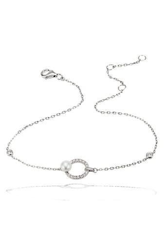 goldmaid Armkette, 925/- Sterlingsilber 16 Zirkonia 1 Zuchtperle kaufen