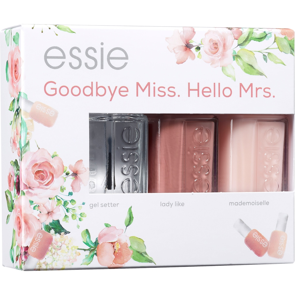 essie Nagellack-Set »Bride Set Goodbye Miss. Hello Mrs.«, (Set, 3 tlg.)
