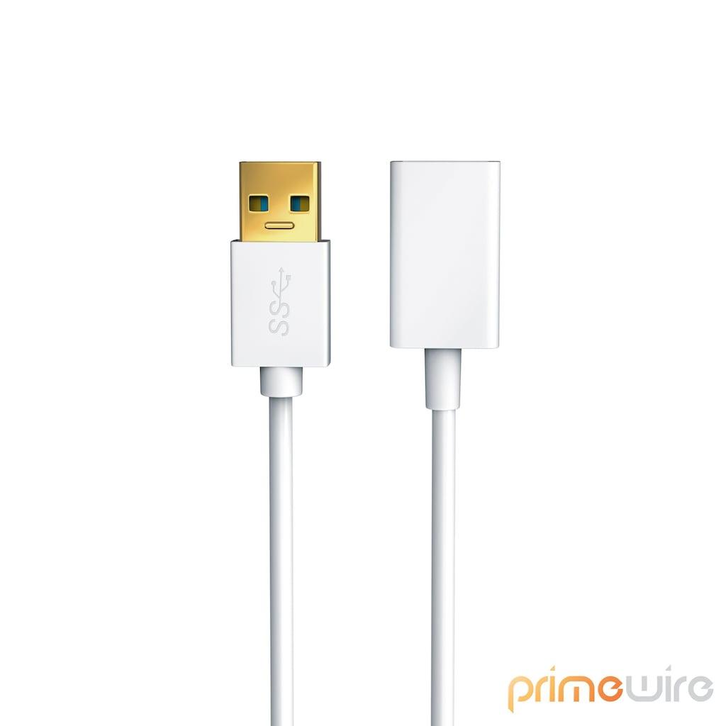 Primewire USB 3.0 Super Speed Verlängerungskabel / bis zu 5Gb/s »USB A Buchse zu USB A Stecker«
