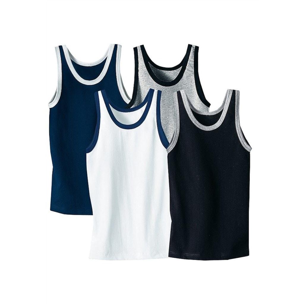 AUTHENTIC UNDERWEAR Unterhemd, (4 St.), mit kontrastfarbigen Einfassungen