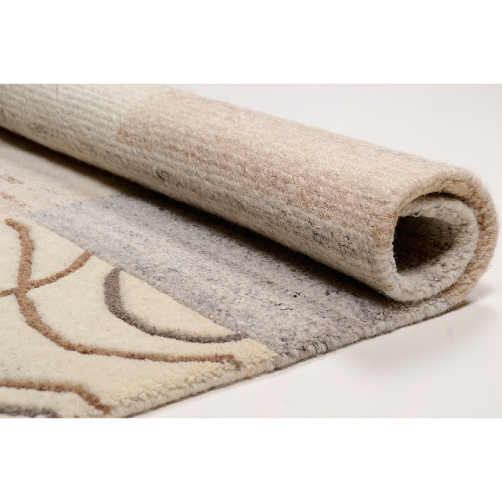THEKO Wollteppich »Nakarta 2«, rechteckig, 12 mm Höhe, reine Wolle, handgeknüpft, Wohnzimmer