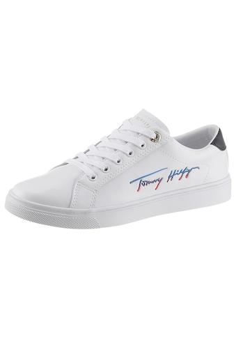 TOMMY HILFIGER Sneaker »TH SIGNATURE CUPSOLE SNEAKER«, mit seitlichem Logoschriftzug kaufen