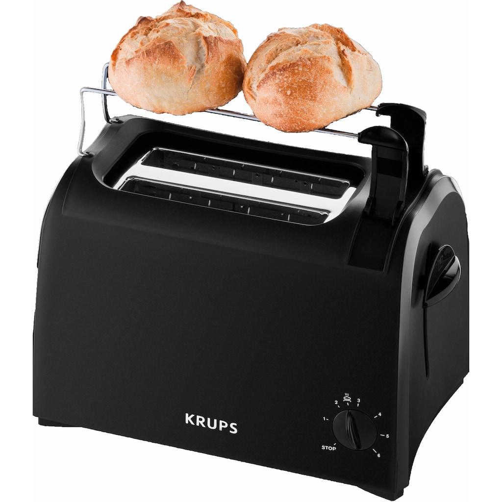 Krups Toaster »Pro Aroma KH1518«, 2 kurze Schlitze, für 2 Scheiben, 700 W, Krümelschublade, 6 Bräunungsstufen, Hebe-Funktion