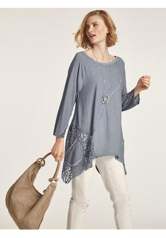 Rundhalsshirt im oversized Look kaufen