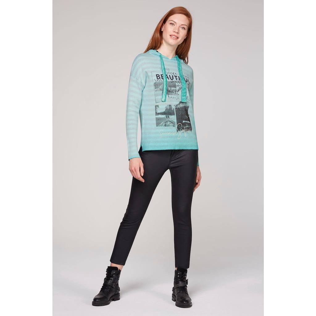 SOCCX Kapuzensweatshirt, in lässiger Inside-Out-Qualität