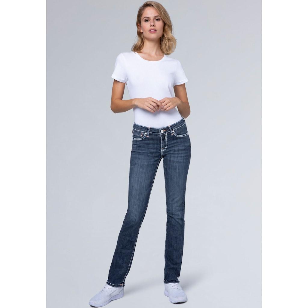 SOCCX Slim-fit-Jeans »RO:MY«, mit hellen Stepp-Nähten