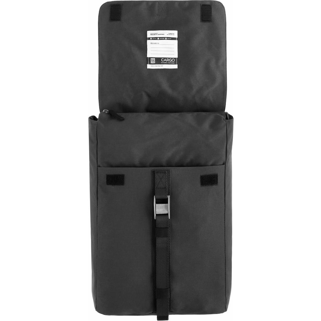 Cargo Laptoprucksack »Cargo 101, schwarz, mit Verschlussklappe«