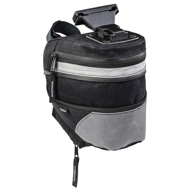 Hama Satteltasche Fahrrad mit Schnellverschluss, wasserabweisend »2 Fächer, erweiterbar bis 2,8l«