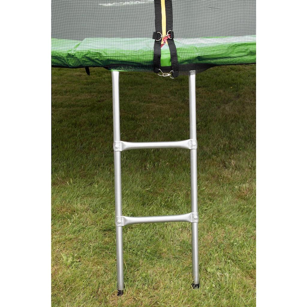 STAMM SPORTS Gartentrampolin, Ø 366 cm, (3), Anti-Roll-Over-Schutz, farbig verkleidete Netzpfosten