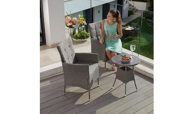 KONIFERA Gartenmöbelset »Mailand«, 7 - tlg., 2 Sessel, Tisch Ø 50 cm, Polyrattan kaufen