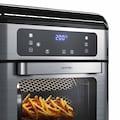 Arendo Heissluftfritteuse 10 L Airfryer mit Drehgrill »FORNO Mini Backofen Fritteuse«