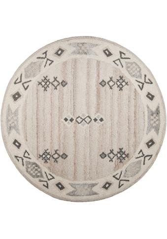 THEKO Wollteppich »Royal Berber«, rund, 18 mm Höhe, reine Wolle, Wohnzimmer kaufen